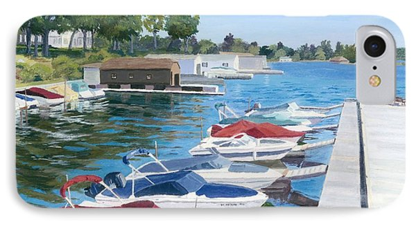 IPhone Case featuring the painting T.i. Park Marina by Lynne Reichhart
