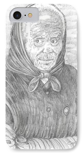 IPhone Case featuring the drawing Ti Vedo Ti Sento by Giovanni Caputo