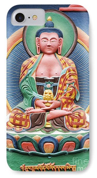 Tibetan Buddhist Deity Sculpture Phone Case by Tim Gainey