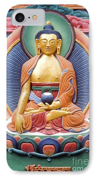 Tibetan Buddhist Deity Wall Sculpture Phone Case by Tim Gainey