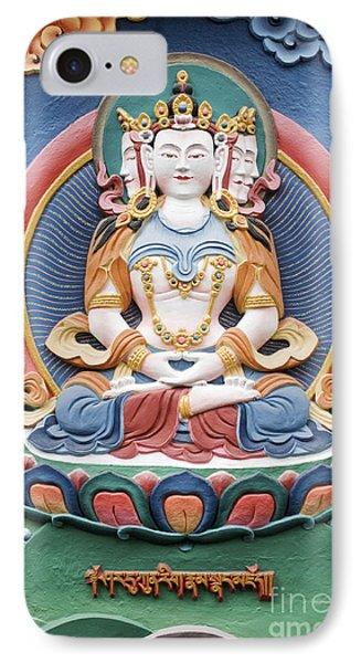 Tibetan Buddhist Temple Deity Sculpture Phone Case by Tim Gainey