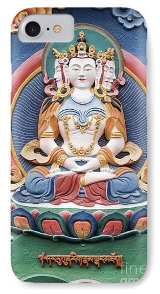 Tibetan Buddhist Temple Deity Sculpture IPhone Case