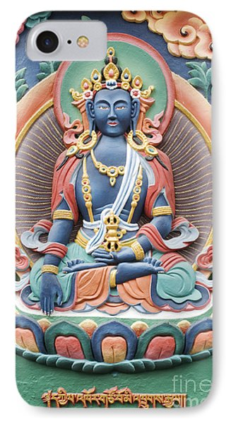 Tibetan Buddhist Temple Deity Phone Case by Tim Gainey