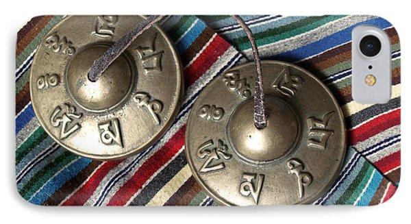 Tibetan Prayer Bells On Woven Scarf Phone Case by Anna Lisa Yoder