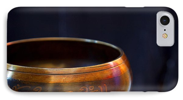 Tibetan Singing Bowl IPhone Case by Theresa Tahara