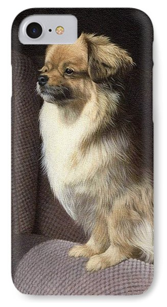 Tibetan Spaniel Painting IPhone Case