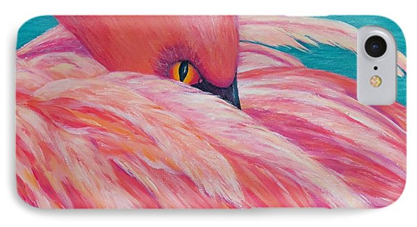 IPhone Case featuring the painting Tickled Pink by Susan DeLain