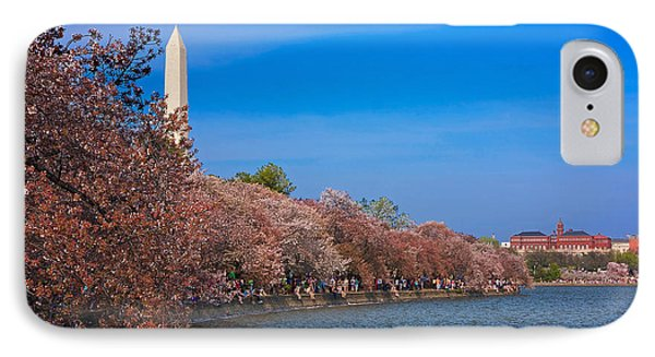 Tidal Basin Cherry Blossoms IPhone Case by Stuart Litoff