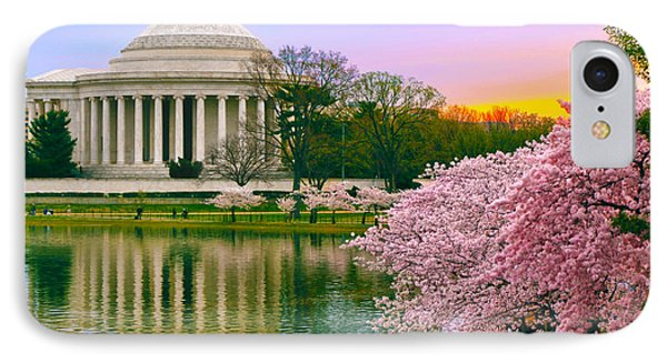 Tidal Basin Morning IPhone Case by Mitch Cat