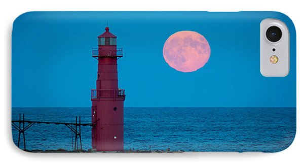 Tidal Moon And Lighthouse IPhone Case by Bill Pevlor