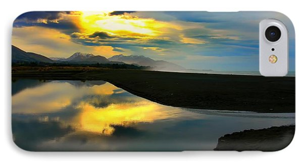IPhone Case featuring the photograph Tidal Pond Sunset New Zealand by Amanda Stadther