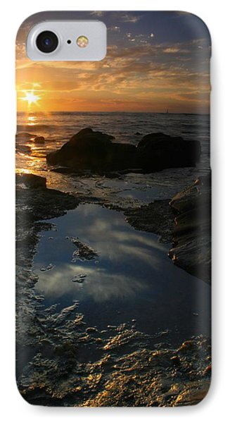 Tide Pool Reflection IPhone Case by Scott Cunningham