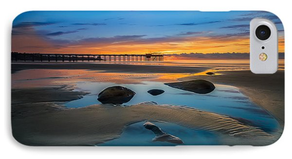 Tide Pool Reflections At Scripps Pier IPhone Case