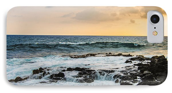 Tide Pool Sunsets In Hawaii Phone Case by Brandon McClintock