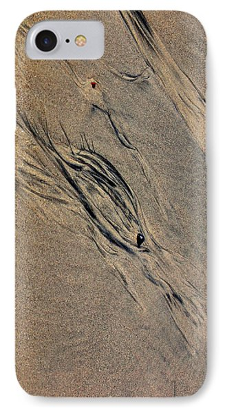 IPhone Case featuring the photograph Tide Tracks by Irma BACKELANT GALLERIES