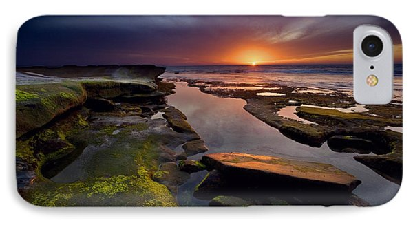 Tidepool Sunsets IPhone Case by Peter Tellone