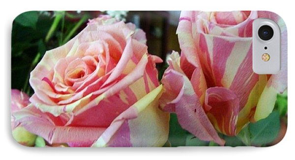 Tie Dye Roses IPhone Case
