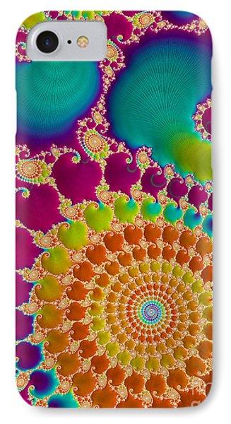 Tie Dye Spiral  IPhone Case by Heidi Smith
