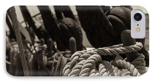 Tied Up Black And White Sepia IPhone Case