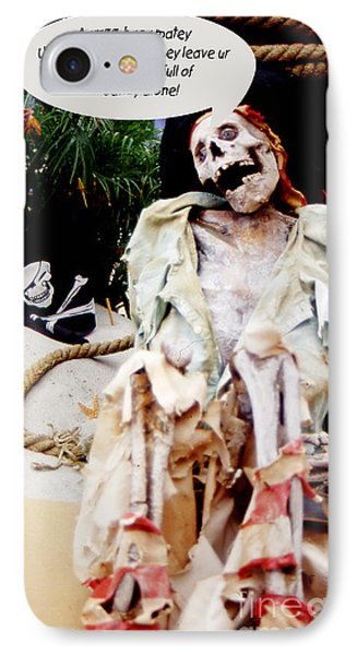 IPhone Case featuring the photograph Tied Up Pirate by Gary Brandes