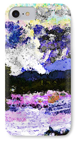 IPhone Case featuring the digital art Tierra Amarilla Storm Sketch I by Anastasia Savage Ealy