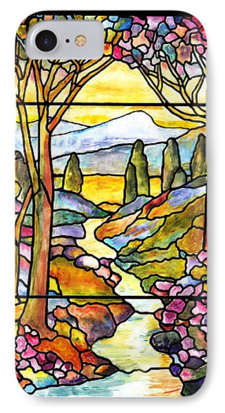 Tiffany Landscape Window IPhone Case by Donna Walsh