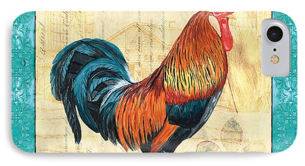 Tiffany Rooster 1 IPhone 7 Case by Debbie DeWitt