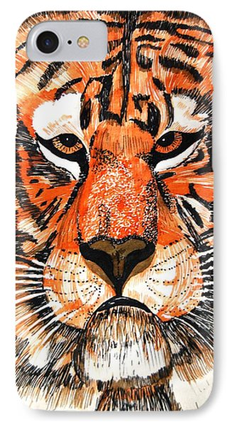 Tiger IPhone Case by Angela Murray