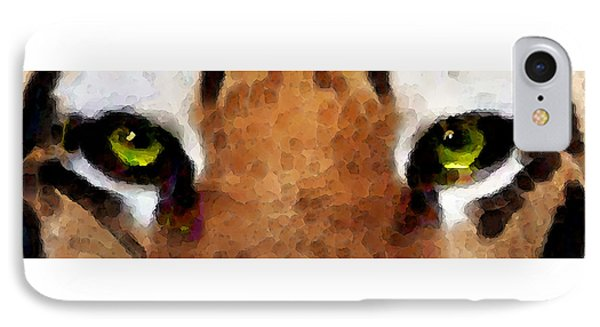 Tiger Art - Hungry Eyes IPhone 7 Case by Sharon Cummings