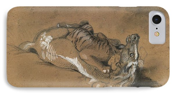 Tiger Attacking A Horse IPhone Case