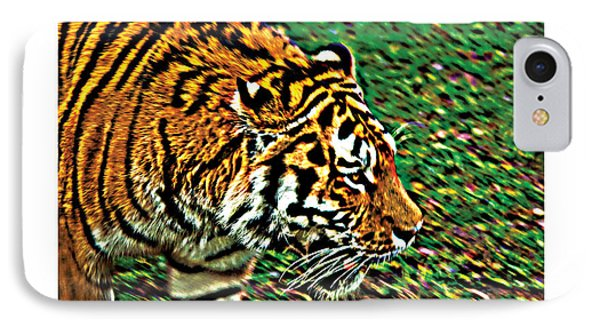 IPhone Case featuring the photograph Tiger Bright  Naturally Rare Poster by David Davies