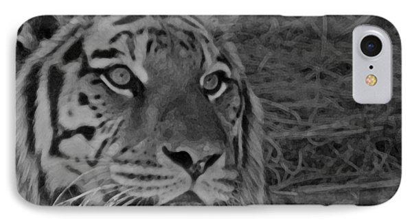 Tiger Bw Phone Case by Ernie Echols