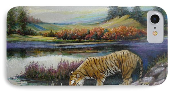Tiger By The River IPhone Case by Svitozar Nenyuk