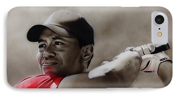 Tiger Woods - ' Tiger ' IPhone Case by Christian Chapman Art