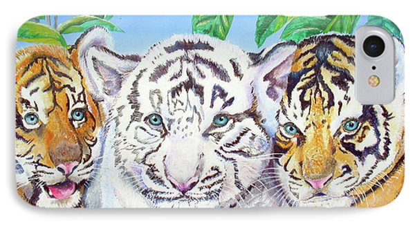 Tiger Cubs IPhone Case by Thomas J Herring