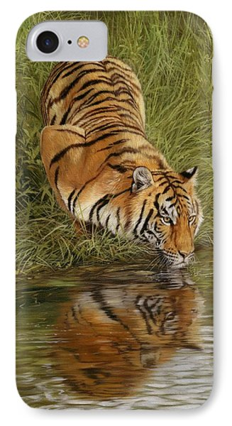 Tiger IPhone Case by David Stribbling