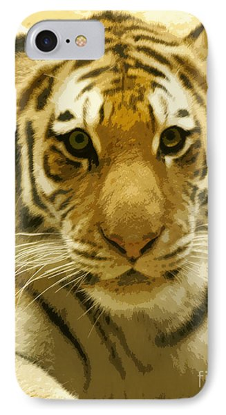 IPhone Case featuring the digital art Tiger Eyes by Erika Weber