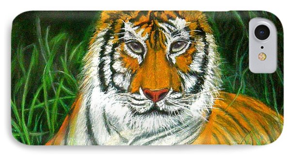 IPhone Case featuring the pastel Tiger Eyes - Pastel by Antonia Citrino