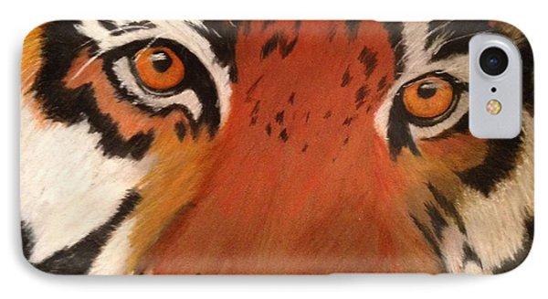 Tiger Eyes IPhone Case by Renee Michelle Wenker