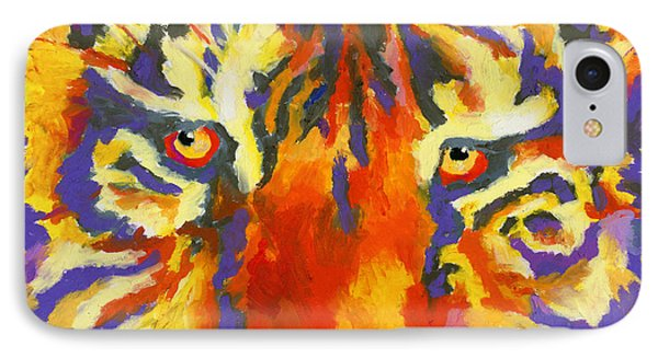 IPhone Case featuring the painting Tiger Eyes by Stephen Anderson