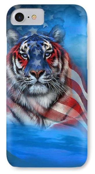 Tiger Flag Phone Case by Carol Cavalaris