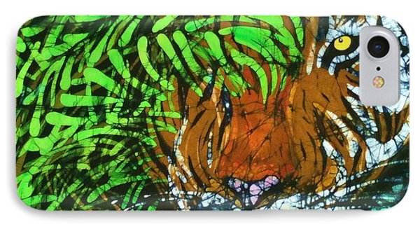 Tiger In Bamboo  Phone Case by Kay Shaffer