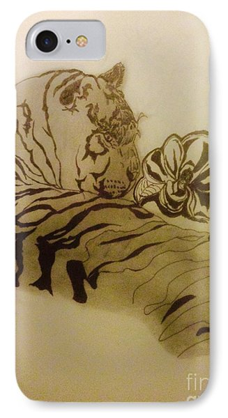 Tiger In The Shade IPhone Case by Franky A HICKS
