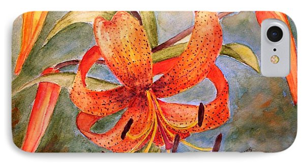 Tiger Lily IPhone Case by Carol Grimes