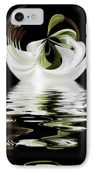 Tiger Lily Reflected IPhone Case by Cyndy Doty