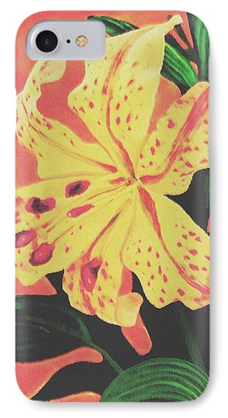 IPhone Case featuring the painting Tiger Lily by Sophia Schmierer