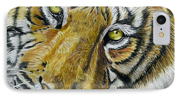 Tiger Painting Phone Case by Michelle Wrighton