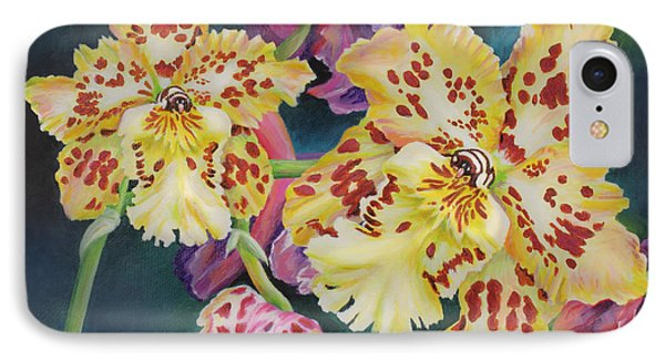IPhone Case featuring the painting Tiger Orchid by Jane Girardot