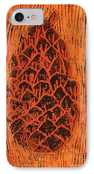 Tiger Pine Cone IPhone Case by Amanda Elwell
