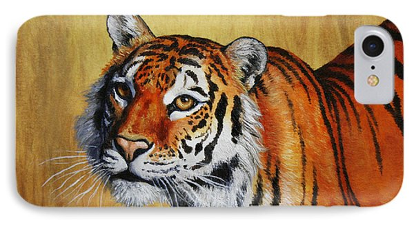 Tiger Portrait IPhone Case by Crista Forest